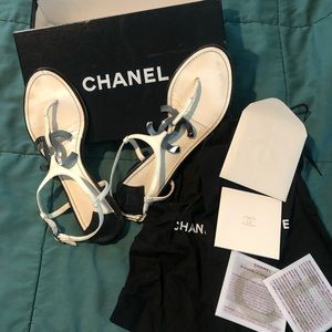 Authentic Chanel Thong Sandals